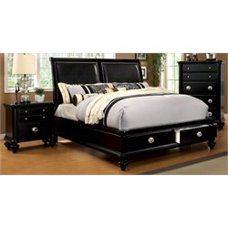 Helene 2 Piece Bedroom Set in Black