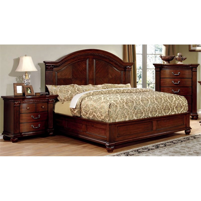 furniture of america sorella 3 piece queen panel bedroom