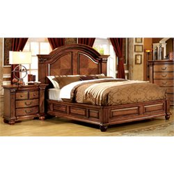 Mischa 2 Piece Bedroom Set in Antique Tobacco Oak
