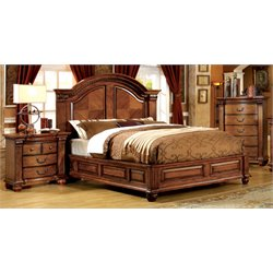 Mischa 3 Piece Bedroom Set in Antique Tobacco Oak
