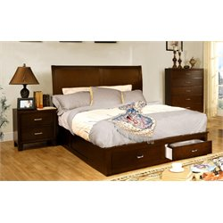 Ruggend 3 Piece Bedroom Set in Brown cherry