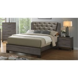 Charlsie 3 Piece Bedroom Set in Antique Gray