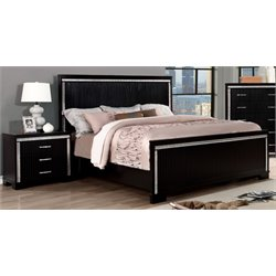 Clarice 2 Piece Bedroom Set in Black