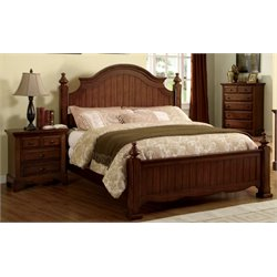 Fletcher 2 Piece Bedroom Set in Light Walnut