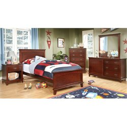 Hailey 2 Piece Bedroom Set in Cherry
