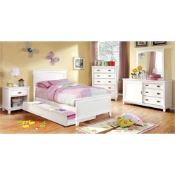 Hailey 3 Piece Bedroom Set in White