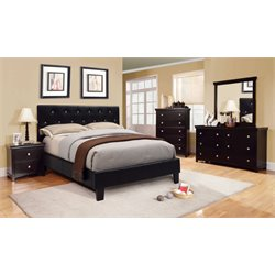 Kylen 4 Piece Bedroom Set in Black