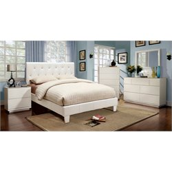 Kylen 4 Piece Bedroom Set in White
