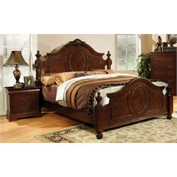 Lauryn 2 Piece Bedroom Set in Brown Cherry