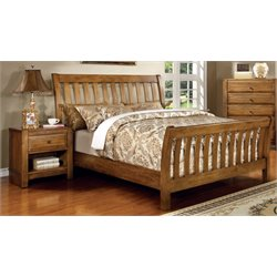 Leanna 2 Piece Bedroom Set in Rustic Oak