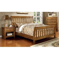 Leanna 3 Piece Bedroom Set in Rustic Oak