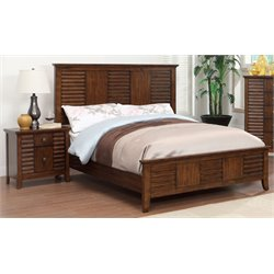 Kyrin 2 Piece Bedroom Set in Walnut