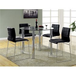 Poipen 4 Piece Glass Top Dining Set