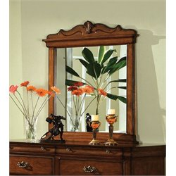 Furniture of America Wade Antique Inspired Mirror in Dark Oak