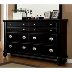 Furniture of America Helene 6 Drawer Dresser in Black