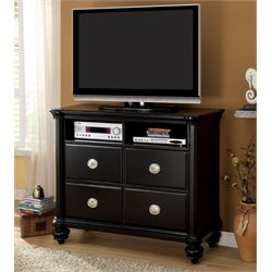 Furniture of America Helene 4 Drawer Media Chest in Black