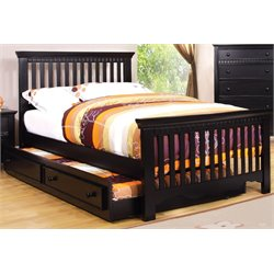 Dresden Etched Bed Black