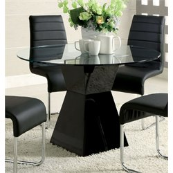 Dorazio Round Glass Top Dining Table