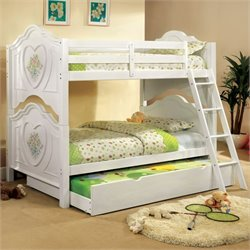Furniture of America Isadoren Bunk Bed in White