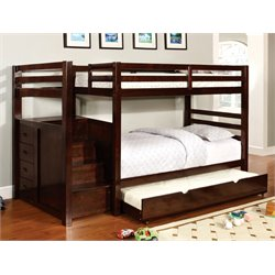 Genny Storage Bunk Bed in Dark Walnut