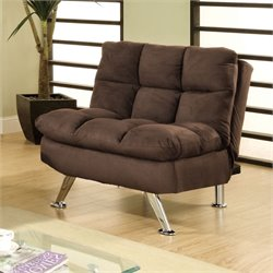 Furniture of America Vantrilley Plush Chair in Brown