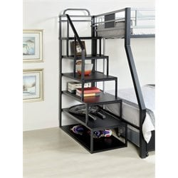 Furniture of America Estrecion Side Ladder in Silver and Black