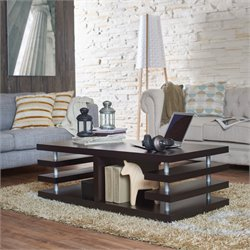 Furniture of America Cloverdale Espresso Coffee Table in Espresso