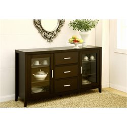 Furniture of America Maywood Buffet Table in Espresso