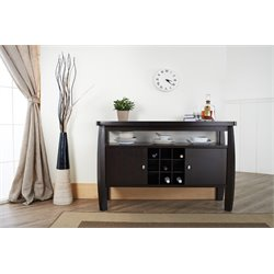 Furniture of America Mendota Buffet Table in Espresso