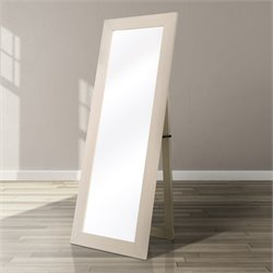 Furniture of America Jalene Standing Mirror in Ivory