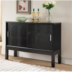 Furniture of America Mian Crocodile Buffet in Black