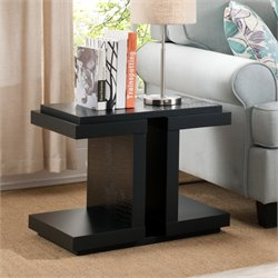 Furniture of America Peteluma End Table in Black