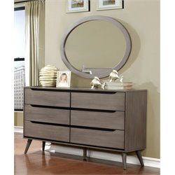 Farrah Dresser Oval Mirror Set