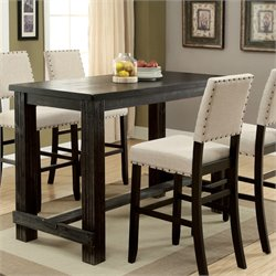 Furniture of America Stanton Pub Table in Antique Black