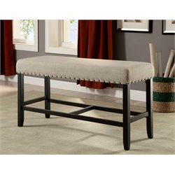 Furniture of America Stanton Fabric Counter Height Bench