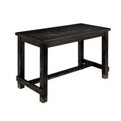 Furniture of America Stanton Counter Height Table in Antique Black