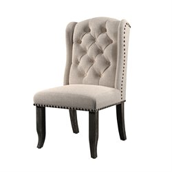 Furniture of America Stanton Fabric Side Chair (Set of 2)
