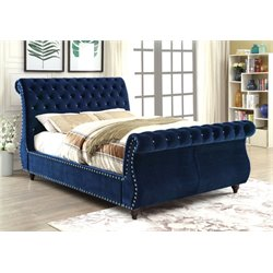 Luxy Bed in Navy