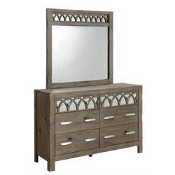 Furniture of America Elyssa 6 Drawer Dresser and Mirror