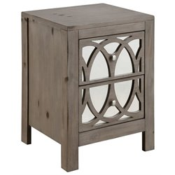 Furniture of America Dysin Nightstand in Brown Cherry