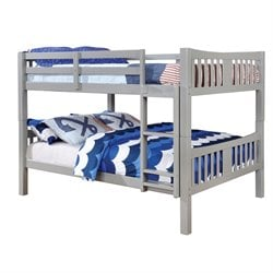 Edith Bunk Bed in Gray