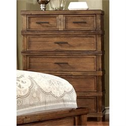 Furniture of America Cynthia 6 Drawer Chest in Antique Oak