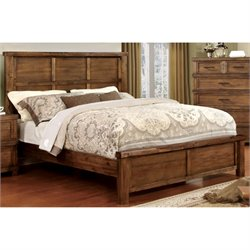 Furniture of America Cynthia Panel Bed in Antique Oak-SH
