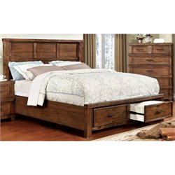 Furniture of America Gillian Panel Panel Bed in Antique Oak-SH