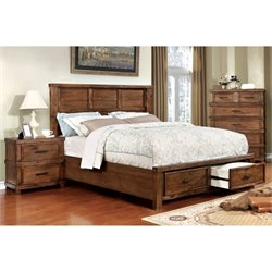 Furniture of America Gillian 2 Piece Panel Bedroom Set-NN