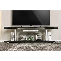 Furniture of America Collatta Contemporary TV Console in Black