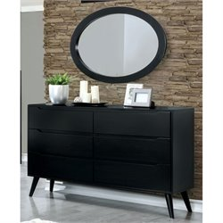 Furniture of America Farrah Dresser with Oval Mirror