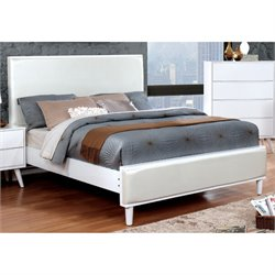Furniture of America Maddy Leatherette Panel Panel Bed-SN