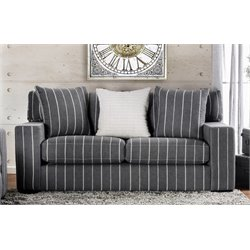 Furniture of America Ornell Modern Loveseat in Charcoal