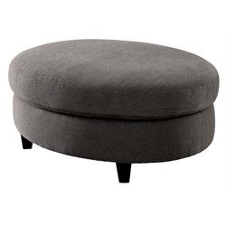 Furniture of America Stenson Contemporary Ottoman in Warm Gray